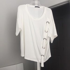Tops - Tee with Looped Design